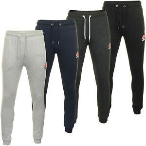 Ellesse-Para-Hombre-Chandal-Trotar-Pantalon-con-logotipo-034-Ovest-039