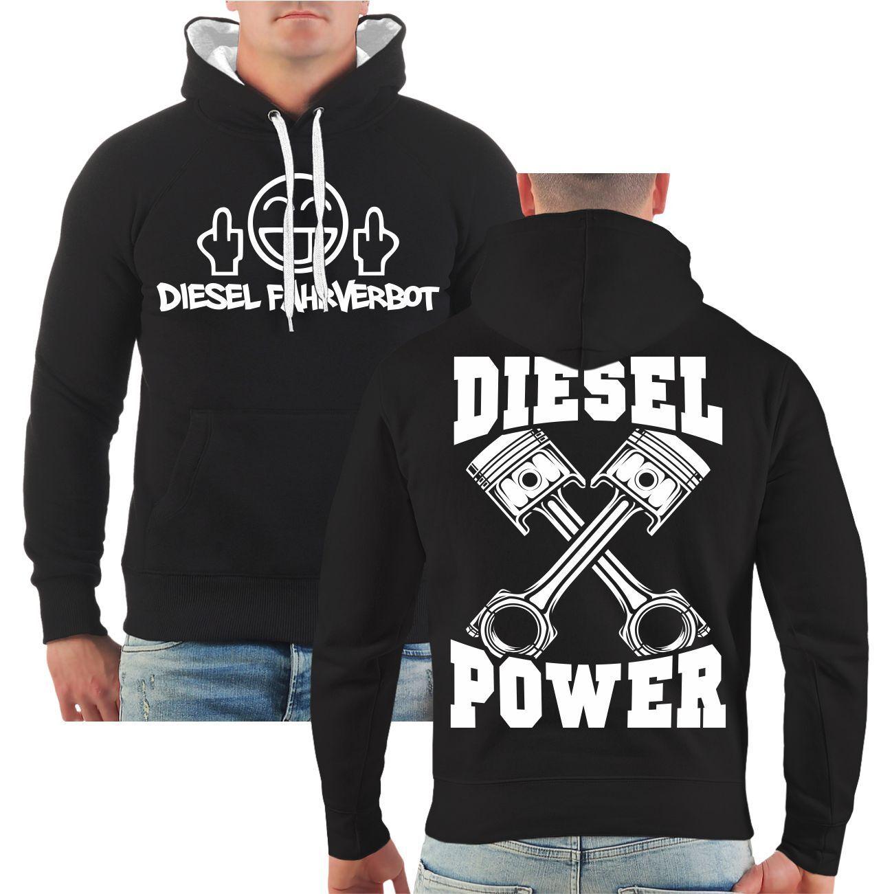 Kapuzenpullover Diesel Fahrverbot Power Auto Motiv Tuning Werkstatt Kfz Hoodie