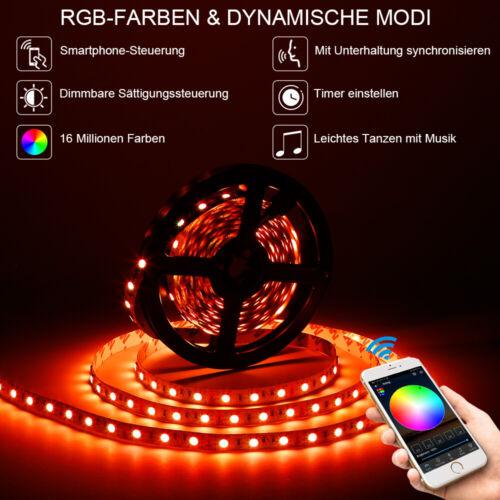 10 20m WIFI RGB LED Stripe 5050 Leiste Streifen Band Licht+WIFI Controller+Trafo
