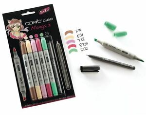 COPIC-CIAO-PENS-5-1-MANGA-SET-3-GRAPHIC-ART-MARKERS-PENS-FINELINER