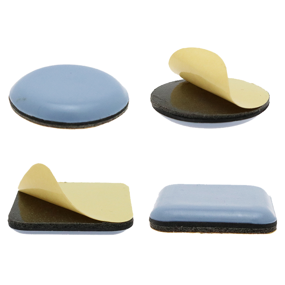 8 Piece Teflon Glides Furniture Glides Self Adhesive Rectangular 50x50mm