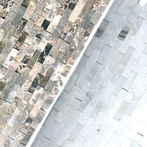 Details zu Naturstein Mosaikfliesen Sirocco 3D   Verblendstein  Wandverblender Steinwand Bad