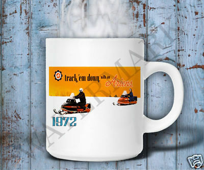 VINTAGE ARIENS 1972 SNOWMOBILE BROCHURE MUG LIKE NOS