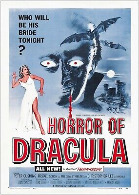 Home Wall Art Print Vintage Movie Film Poster DRACULA 12 A4,A3,A2,A1