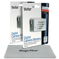 2x Vivitar Lp-e8 Battery For Canon Rebel T5i T4i T3i T2i Eos 700d 650d 600d 550d on sale