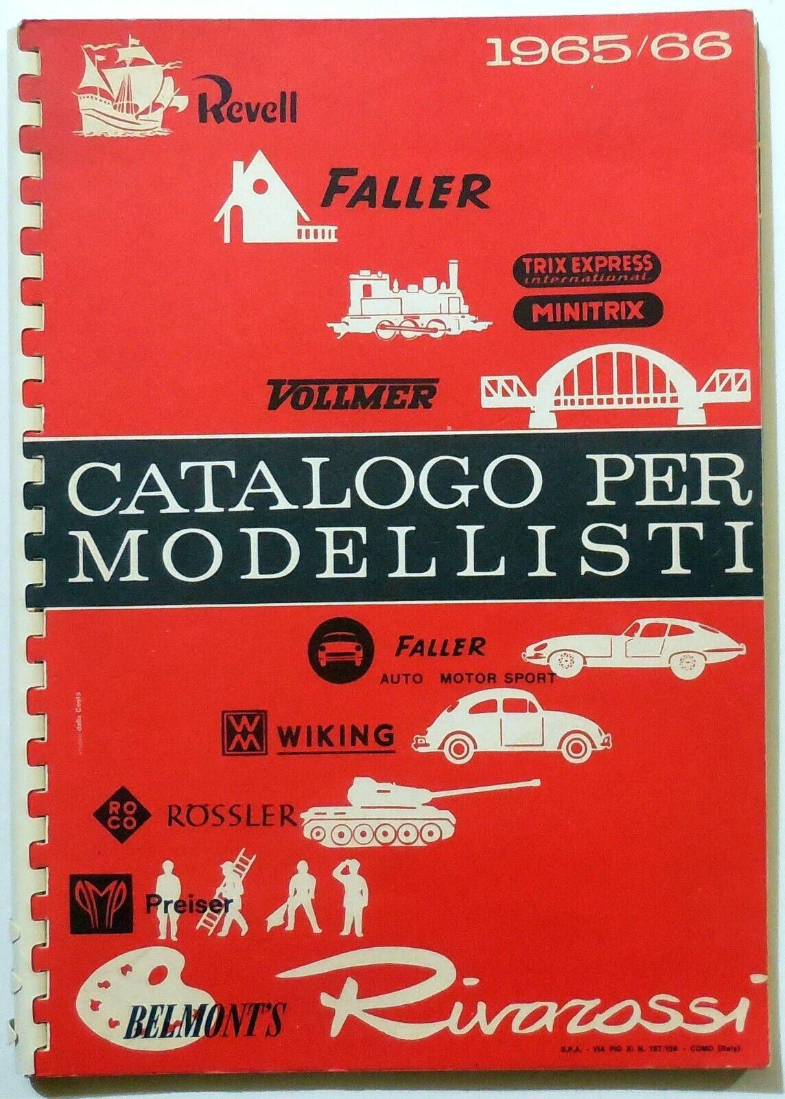CATALOGO PER MODELLISTI RIVAROSSI FALLER PREISER 1965 66 modellismo ferroviario