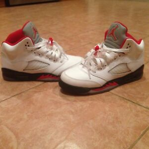 promo code 78aca be916 Details about Jordan retro 5 fire reds size 5.5 youth sneakers VNDS