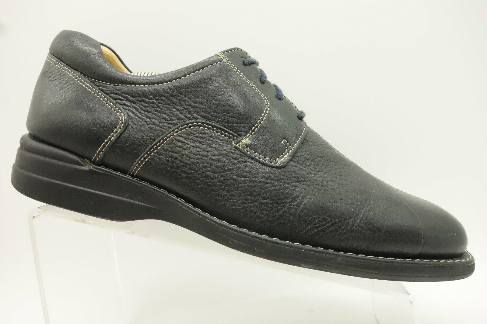 Johnston Murphy Black Leather Casual Split Toe Oxford shoes Mens 10.5 M