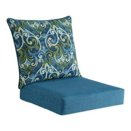 Deep Seat Cushion 2 Piece Orange Lounge