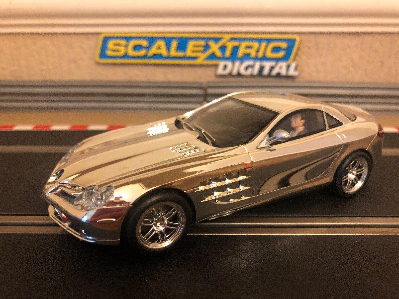 Scalextric Digital Mercedes Benz SLR McLaren Chrome Hypercar C3169A