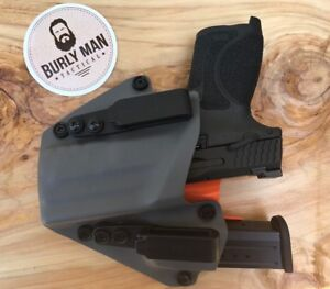 Fits-M-amp-P-Shield-1-0-And-2-0-9-40-S-amp-W-Urban-Grey-Kydex-SideCar-Holster-IWB