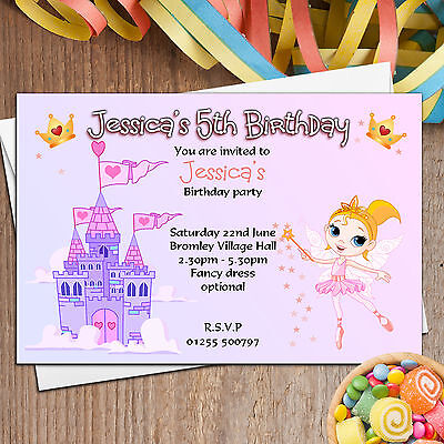 Fairytale Birthday Invitations collection on eBay – Bouncy Castle Party Invitations