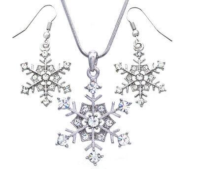 Snowflake Crystal Earrings Bridesmaid Accessory Winter Wedding Crystal Bridal Bling Winter Theme Jewelry Ice Crystal Earrings