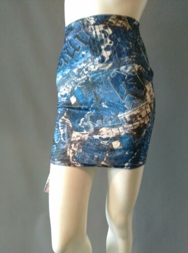 Graffiti Imprimer S ou L Emily Sharp Corps-Avec Mini-jupe-Vintage stretch en velours