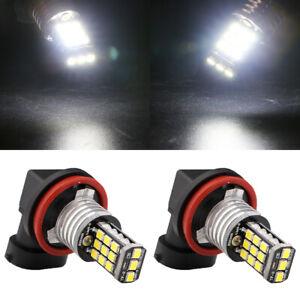 2Pcs High Power H11 Fog Light White LED 2835 21SMD Driving Lamp Bulb 12V 24V
