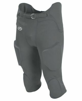 Rawlings NWT Silver Adult XS Padded Premium Integrated Football Pants