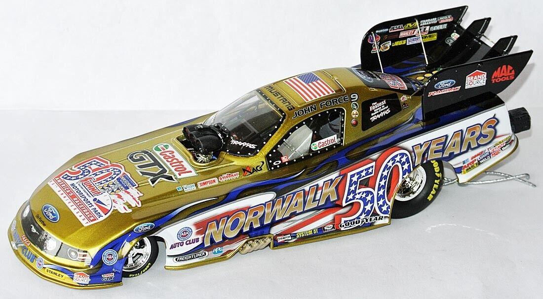 RARE NHRA MUSTANG FUNNY CAR 2013  NORWALK 50 YEARS   John Force - 1 24 lim.Ed.