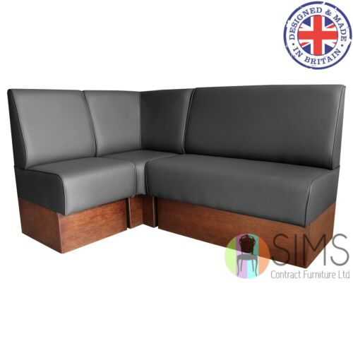 Cafe Bar Kitchen Modular Plain Back Banquette Fitted Bench Booth Seating