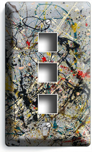 JACKSON POLLOCK INSPIRED ABSTRACT LIGHT SWITCH OUTLET WALL PLATE ROOM ART DECOR