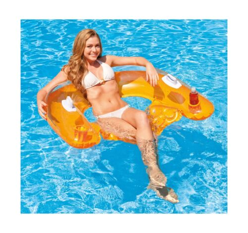 """1 Pack Intex Sit N Float Inflatable Lounge 60/"""" X 39/"""" Colors May Vary"""
