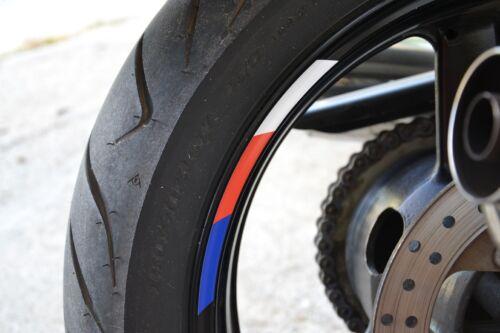 "4x hp colors RIMS WHEELS VINYL STICKER STRIPES RIM FOR 17/"" MOTORCYCLE s1000rr"