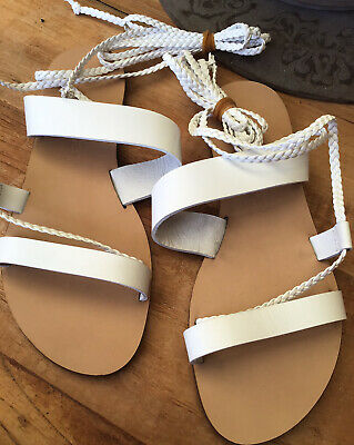 SANDRO VICARI Gold Vintage Mesh Lace Peep-Toe Leather Sandal Size EU 38.5