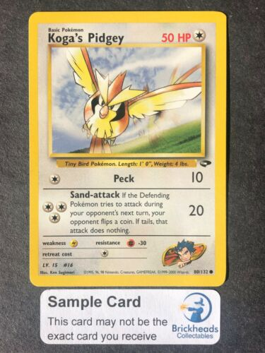 Koga/'s Pidgey 80//132 Gym Challenge Pokemon Card