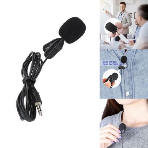 Mini Clip On Mikrofon Mic Tie Collar Shirt Clip Schwarz Kondensator 30HZ 15KHZ