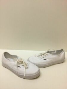 3447be9f1e VANS Lo Pro Classic All White Canvas Lace Up Skate Shoes Mens Size 6 ...