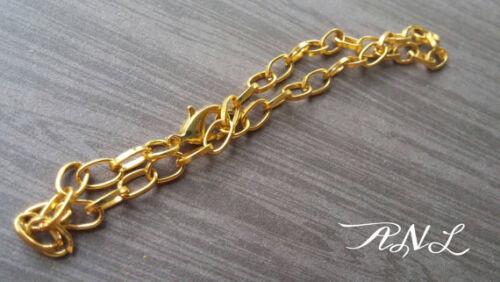 Gold Charm Bracelets Link Chain Blanks Cross Chain Jewelry Supplies 10pcs