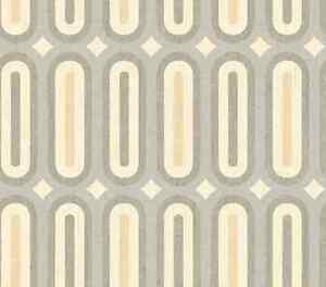 Wallpaper-Modern-Retro-Oblong-Geometric-Gray-Taupe-Cream-Beige-Mid-Century