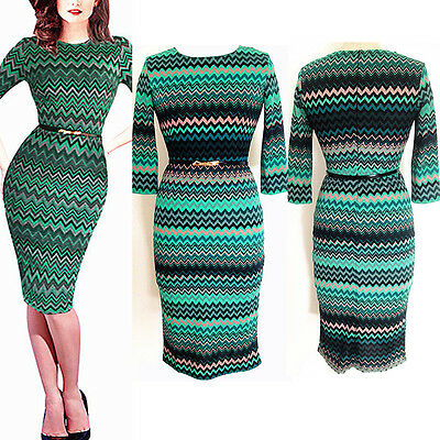 Summer Women Business Office Lady Elegant Slim Cocktail Party Tunic Pencil Dress