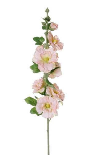 Plastikblume 85cm Ø3-8cm weiß-rosa artplants Künstliche Stockrose ILJANA