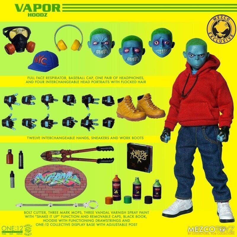 Mezco One: 12 Collective Rumble Society Hoodz VAPOR Figure  In Stock In Hand on eBay thumbnail
