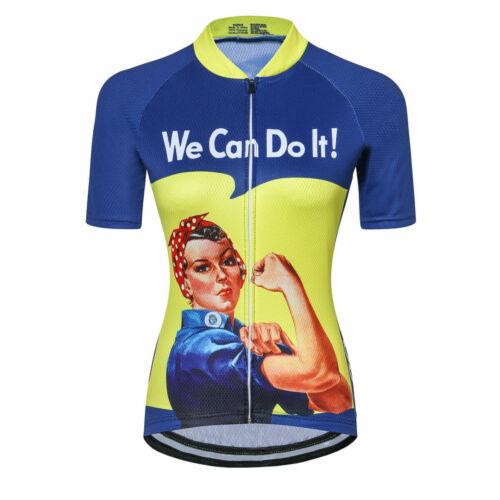 2020 Radsport Trikot Damen Kurzarm Fahrradshirt Radtrikot Blau Grün Gelb Rot