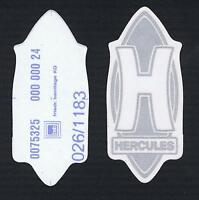 Original Hercules h Aufkleber Silber, Uv Und Wetterbeständig Absolut Selten