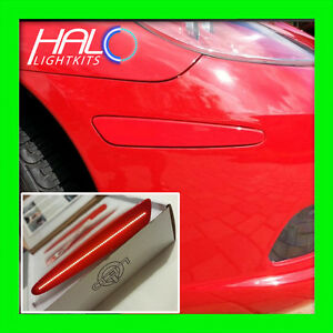 Details About 2005 2013 Oracle Chevy Corvette C6 Concept Victory Red Ghosted Led Side Markers