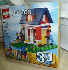 LEGO Creator 31009 Small Cottage, 3 in 1 set, from 2013 windmill, skater's house