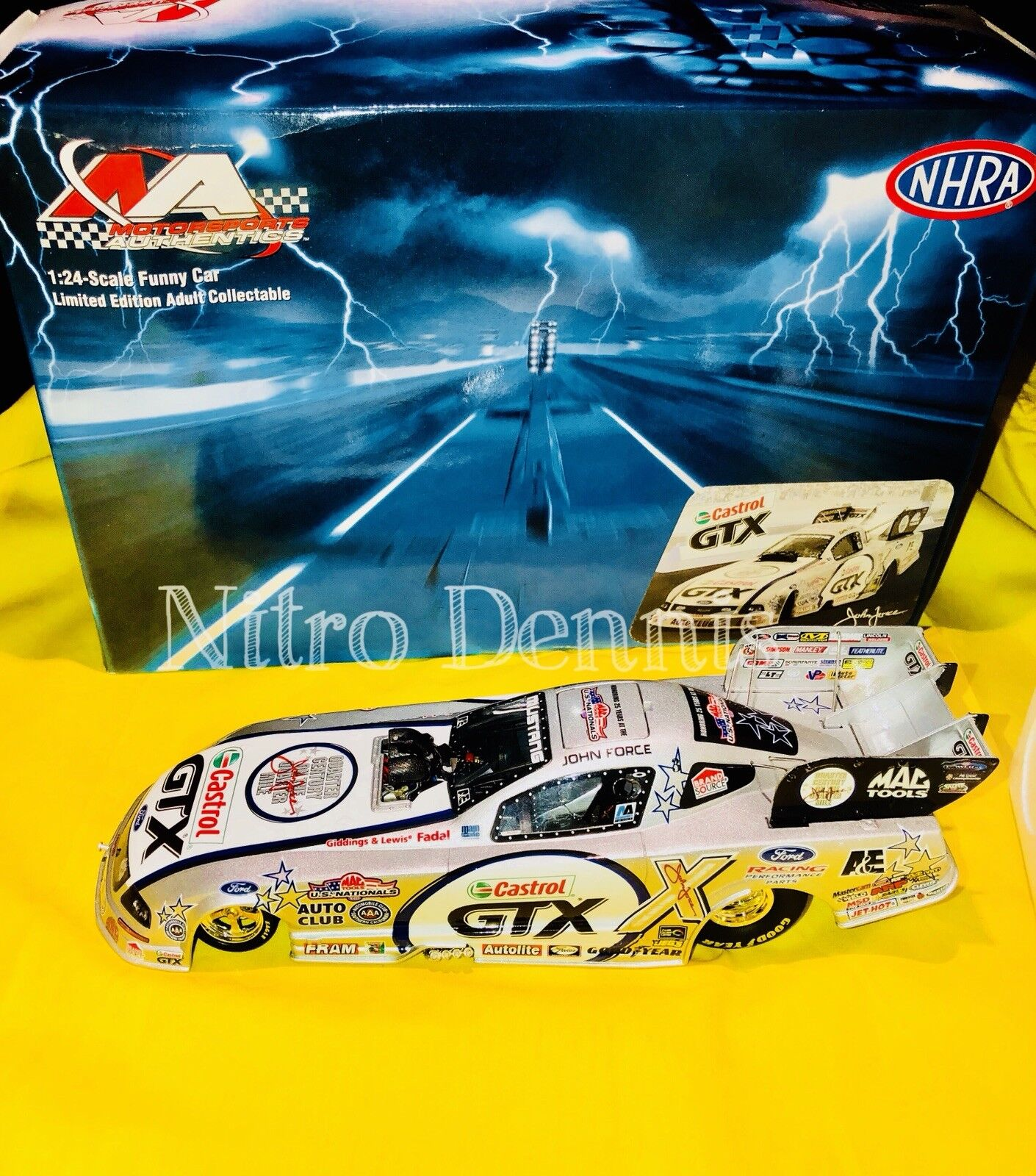 NHRA JOHN FORCE 1 24 Diecast US Nationals NITRO Funny Car MUSTANG Drag Racing 06