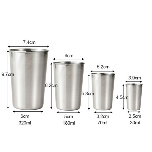 Stainless Steel Cup Mug Drinking Coffee Beer Tumbler Picnic Camping Travel Tools