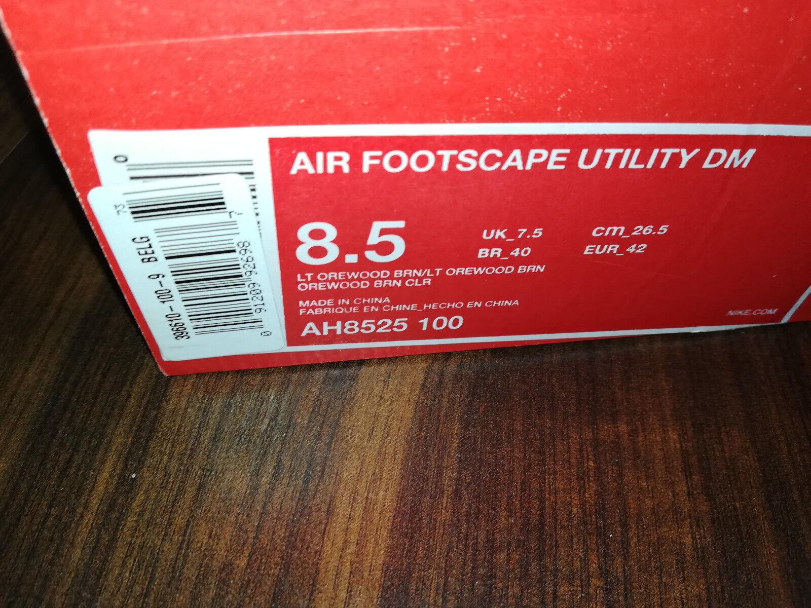 Nike Air Footscape Utility DM Herren Light Orewood AH8525100 Beige Herren DM Schuhe Neu 42 f45511