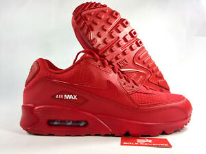 3baf191401cf New Nike Air Max 90 AJ1285-602 University Red White Mens Shoes c1
