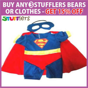 Image is loading Superman-Boy-Clothing-Outfit-by-Stufflers-Will-fit-  sc 1 st  eBay & Superman Boy Clothing Outfit by Stufflers u2013 Will fit on a Build a ...