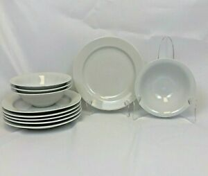 10-PIECE-ODD-LOT-MARTHA-STEWART-EVERYDAY-MSE-CLASSIC-WHITE-DINNERWARE-PLATE-BOWL