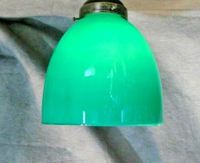 Emerald Green Glass Bell Shape Shade 2 1/4