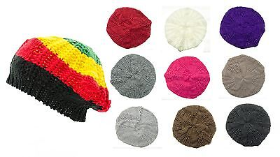 New Thick Knitted Womens Fashion Crochet Beanie Hat Knit Beret Skull Cap Tam