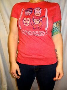 Marvel-Avengers-T-shirt-Old-Navy-Collectabilitees-Red-Cotton-Size-Jr-039-s-Medium