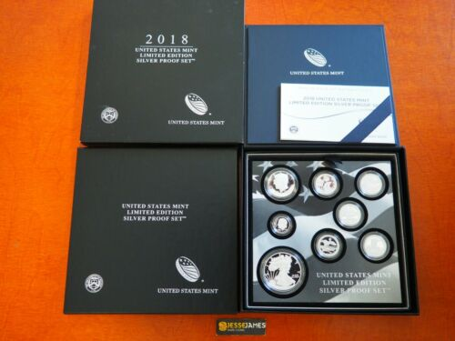 IN STOCK 2018 S PROOF SILVER EAGLE LIMITED EDITION PROOF SET 18RC IN OGP