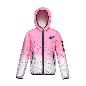 Girls-039-Lightweight-Water-Resistant-Zipper-Hooded-Windbreaker-Jacket-Coat-Outwear
