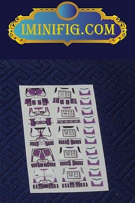 Purple Clone Trooper decals x 5 #056A Custom LEGO Star Wars